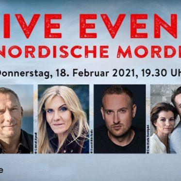"""Digitales LIVE EVENT """"Nordische Morde"""" am Donnerstag, den 18. Februar 2021"""