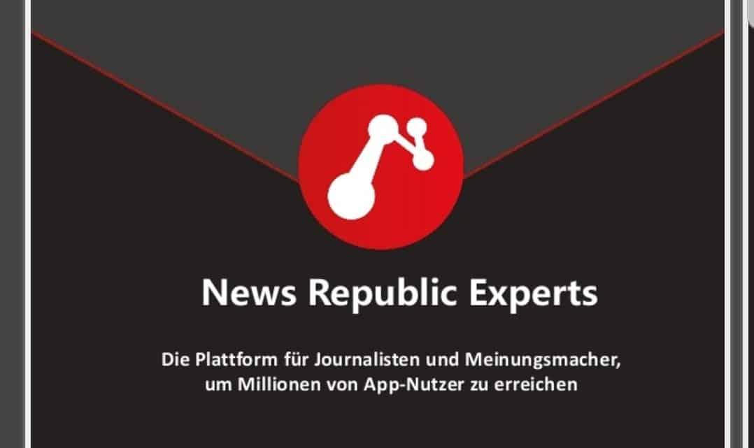 [Information] Mehr Reichweite und Einnahmen für Journalisten, Blogger und Influencer:  Das News Republic Experts Program